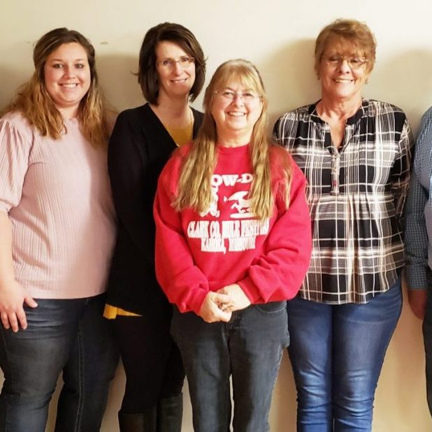MULE FESTIVAL OFFICERS-(left to right) Ashley Justice, Candice Yoder, Sandie Hopp, Debbie Logsdon, Mary Rhodes and Mike Schantz. Give the members a thank you if you see them. They do a lot to put the festival together.