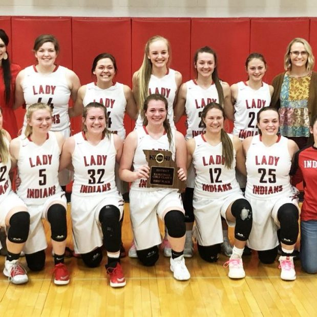 The Clark County Lady Indians defeated Palmyra to claim the Class 3, District 6 basketball championship on Saturday afternoon. The Lady Indians will travel to St. Charles Duschene to for the opening round of the state tournament.